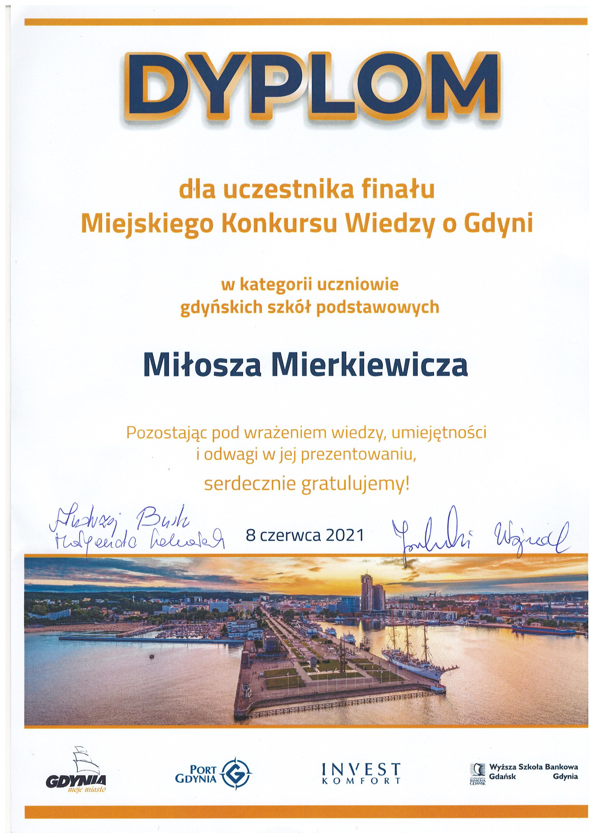Miejski Konkurs Wiedzy o Gdyni
